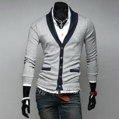 Man's cardigan / V collar / men's