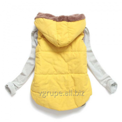 Women's vest with a hood