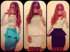 Стильное платье баска