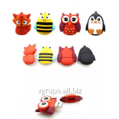 Usb Flash memory owl, fox, bee, penguin