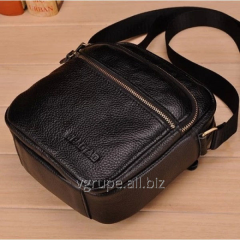 Man's small bag from genuine leather
