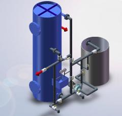 Water softening installations counterflow