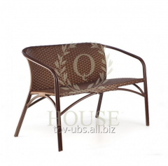 Sofa from a rattan double Bluz