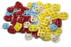 Stopper flat oval Red Product code 20465