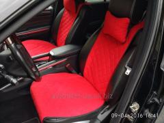 Майки на сиденья автомобиля - 2 шт. Цвет красный