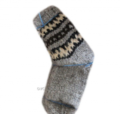 Socks are knitted woolen