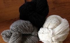Wool yarn for knitting white
