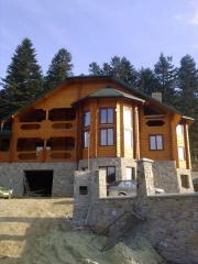 Дома деревянные с D-образного бруса