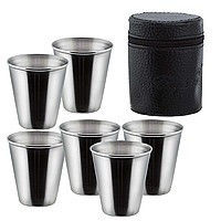 Set of shot glasses in a cover of 6 pieces on 60
