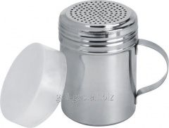 Saltcellar, with the handle and a plastic cap