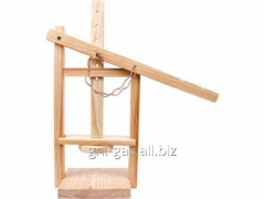 Press wooden for production of cheese of the