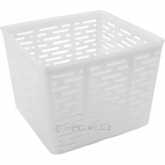 Form plastic for cheese making in assort a square