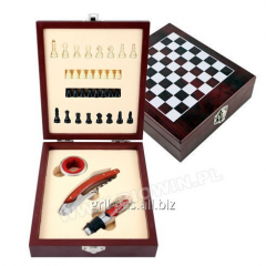 Gift set of 3 elements for wine - Chess