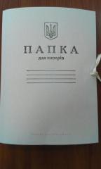 Cardboard folder with ties 0,35 mm