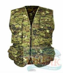 "Station wagon vest of ""Di-gital Woodland"