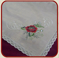The table clothing embroidered (natural flax) for