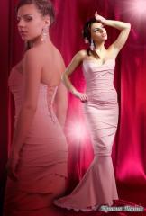 Платье атласное вечернее, р.42-44