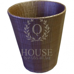 Cache-pot from a rattan