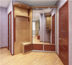Angular case - a compartment in a hall to order