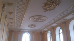 Stucco molding from plaster / furniture for