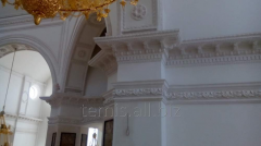 Internal church furniture from plaster, the Stucco