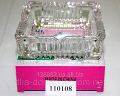 Ashtray of 10*10 cm glass 110108