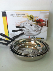 The set of frying pans, diameter is 22,24,26 cm