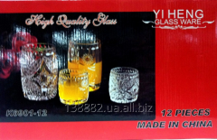 Set of glasses and shot glasses 6+6 111993