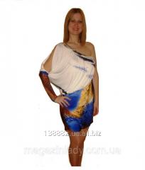 Коктейльное платье на одно плечо 48 Синий 4014