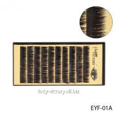 Норковые ресницы с атласным блеском. EYF-(01A-01D)