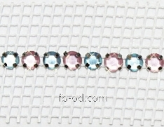 Tape a decor of 3 cm with color stones pink blue a