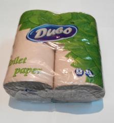 Туалетная бумага Диво серая двухслойная 4шт