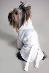 Dressing gown for dogs and cats
