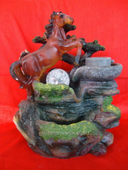 Fountains with a horse, frogs, birds, dragons,