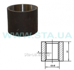 Steel coupling of direct 20 mm of GOST 8966-75