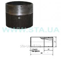 Carving of steel short 25 mm welded