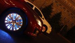 Illumination of disks of the SMART WHEELS Donetsk