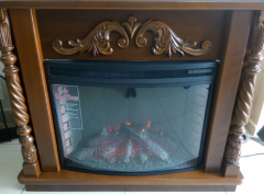Chimney facing with an electrofireplace