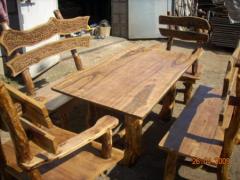 Наборы мебели для кухни из массива дерева