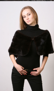 Palatine from natural fur of mink. Model: M350