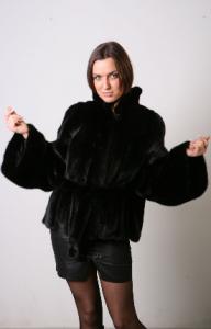 Jacket from natural fur of mink. Model: M367