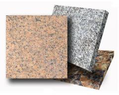 Granite plates and blocks from the producer.