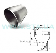 Transitions stamped steel 48kh42mm GOST 17378-2001