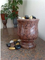 Vases from granite
