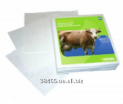 Napkins for processing of an udder of cows