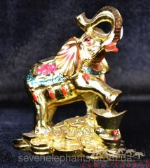 Figurine the Elephant on coins 9х8