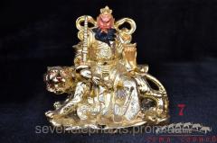 Figurine Cai-shen on a tiger 13,5х15
