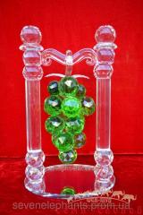 Сувенир Виноград две колонны (зеленый) Б 30х21