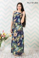 Платье макси PL3-181 вискозный шелк