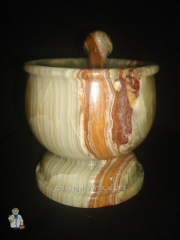 Mortar with a pestle (12х13 cm)